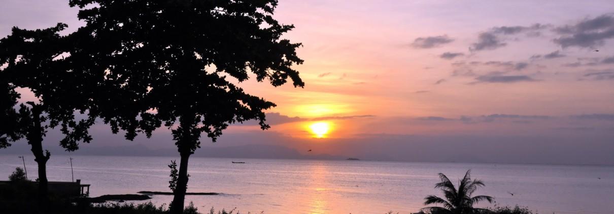 Coucher de soleil sur le Golfe de Siam